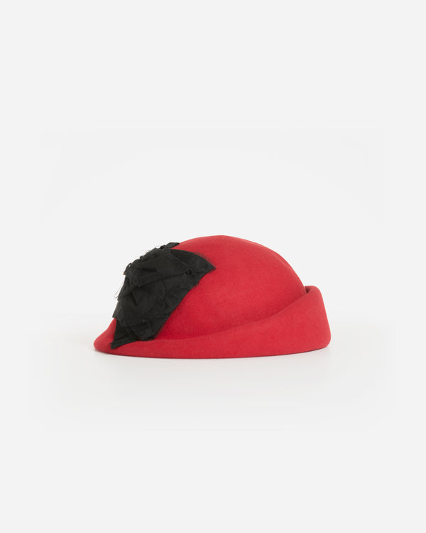 CLAIRE WOOL FELT PILLBOX BERET HAT
