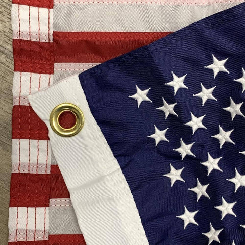 Us Boat Flag Nylon Sewn & Embroidered Stars Made In Usa