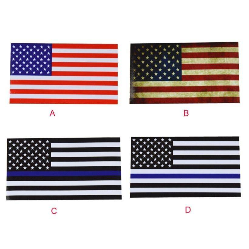 Car Sticker Flags Decal American Flag For Bumper Stickers