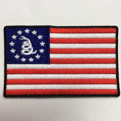 Gadsden Betsy Ross - 2x3 inch - Iron on Patch