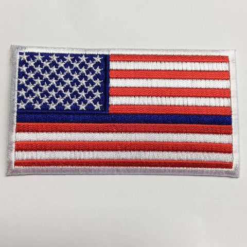 Image of Thin Blue Line USA Patch - 2x3 inch