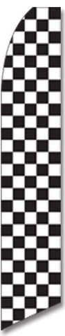 vendor-unknown Additional Flags Black and White Checkered Advertising Flag (Flag Only)