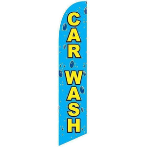 vendor-unknown Advertising Flags Bubbles Car Wash Advertising Banner (banner only)