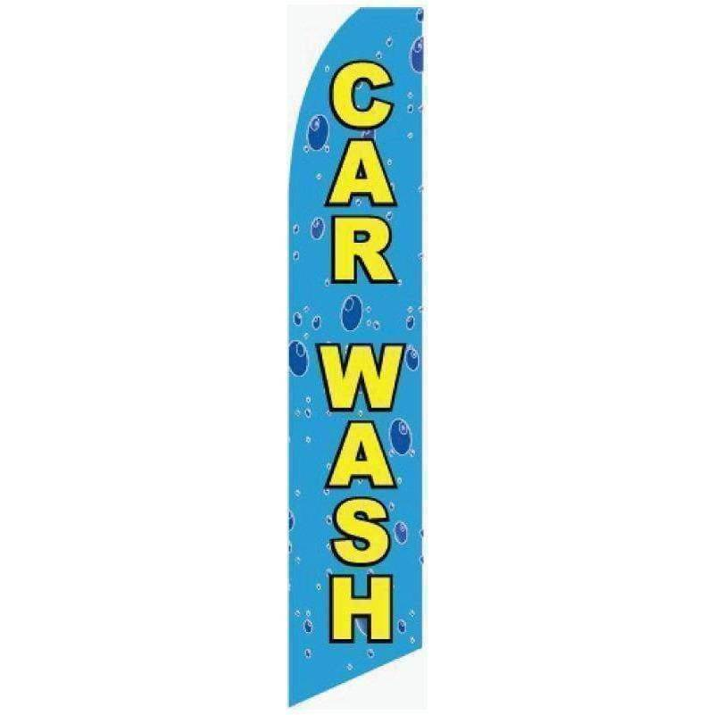 vendor-unknown Advertising Flags Bubbles Car Wash Advertising Flag (Complete set)