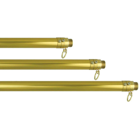 Eder Hardware And Flag Poles Deluxe Indoor Mounting Set (USA Made) Gold Aluminum Pole, Stand, Ornament & Tassel