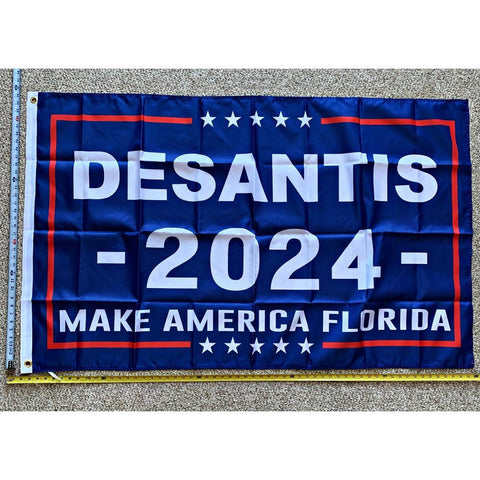 DeSantis 2024 Make America Florida Flag - Made in USA