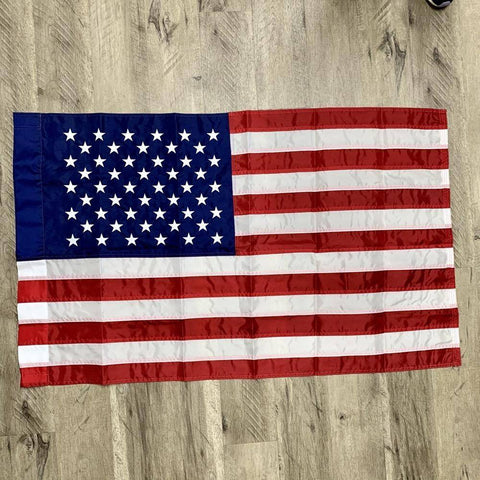 Image of Usa American Flag - Pole Hem Sleeve Nylon Made In America 3X5 /