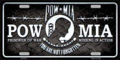 vendor-unknown License Plates and Metal Signs POW-MIA License Plate - You Are Not Forgotten (USA Made)