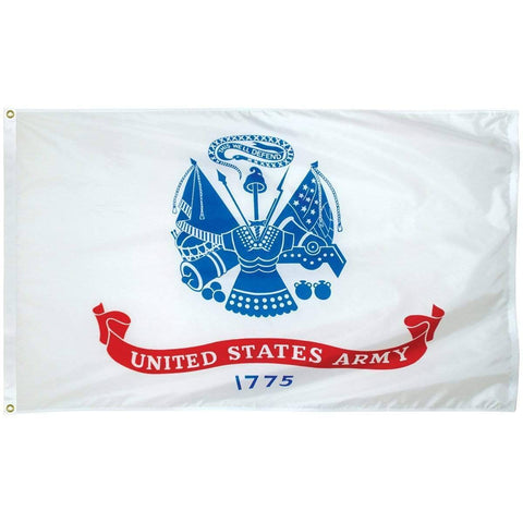 vendor-unknown Military Flags Army 3 x 5 Nylon Dyed Flag (USA Made)