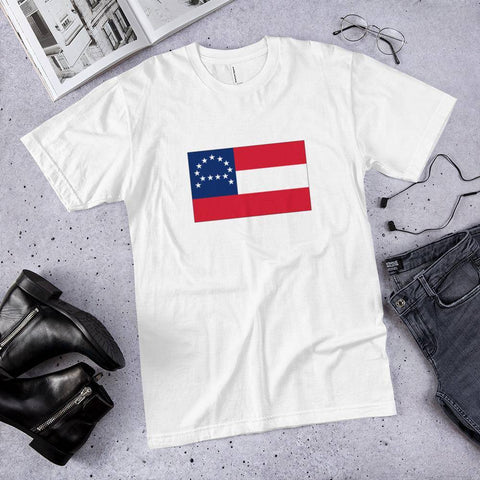 Image of General Robert E Lee Headquarters Flag T-Shirt Made In Usa Xs