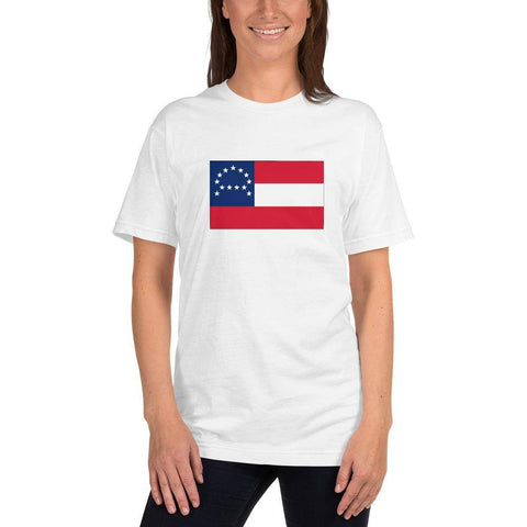 Image of General Robert E Lee Headquarters Flag T-Shirt Made In Usa