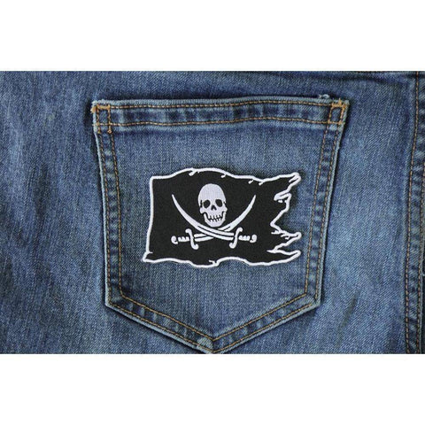 TCP Patch Buccaneer - Jolly Roger - Pirate Skull on a Flag  Patch - 2.5 x 3.5 inch