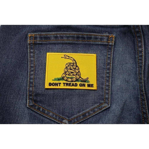 "TCP Patch Gadsden Don't Tread On Me  2"" x 3"" Iron On Patch"