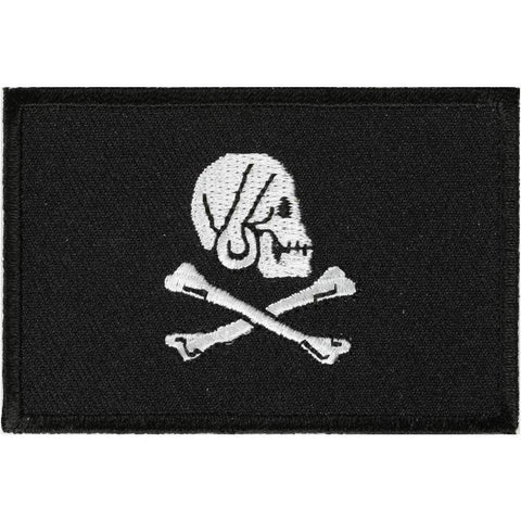 TCP Patch Pirate Skull and Cross Bones Jolly Roger Flag  Patch - 2 x 3 inch
