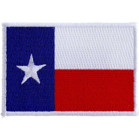 TCP Patch State of Texas Flag White Border Patch - 2 x 3 inch