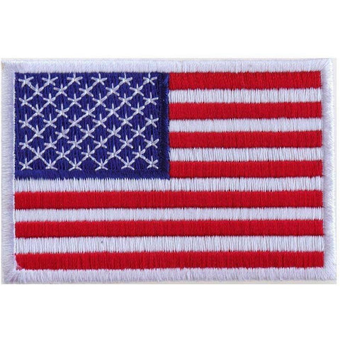 TCP Patch White / 2x3 Inches US Flag Patch Small 3 Inch - 2 x 3 inch 50 Star American Flag