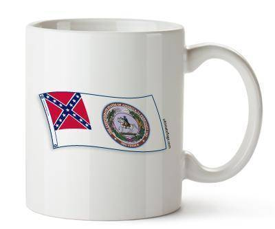 vendor-unknown Rebel Flags & Confederate Flags CSA 2nd National Seal Mugs