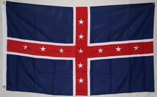 vendor-unknown Rebel Flags & Confederate Flags Polk Battle Double Nylon Embroidered Flag 3 x 5 ft.