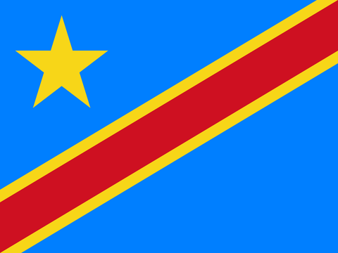 vendor-unknown Search Flags by Quality Democratic Republic of Congo 4 x 6 Inch Flag Mounted on Stick