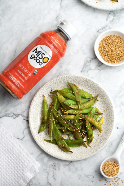 Blistered Teriyaki MiSOgood Snap Peas