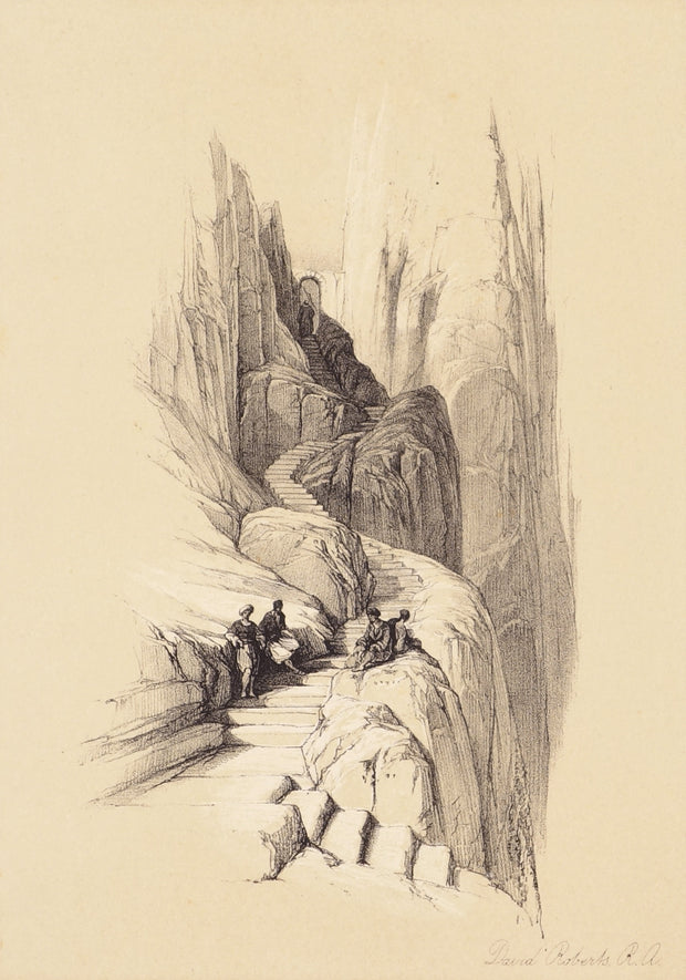 Ascent to the Summit of Mount Sinai by David Roberts - Davidson Galleries