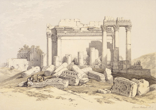 Baalbec, the Eastern Portico Ruins by David Roberts - Davidson Galleries