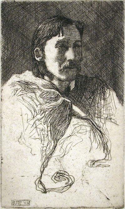 Untitled (Probably a Portrait of Robert Louis Stevenson) by Ralph M. Pearson - Davidson Galleries