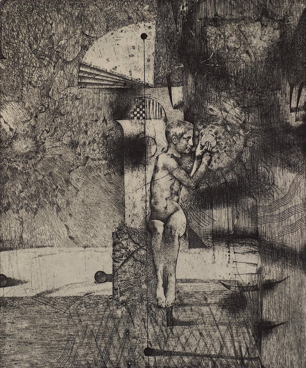 Boy (Ex Libris) by Ivan Rusachek - Davidson Galleries