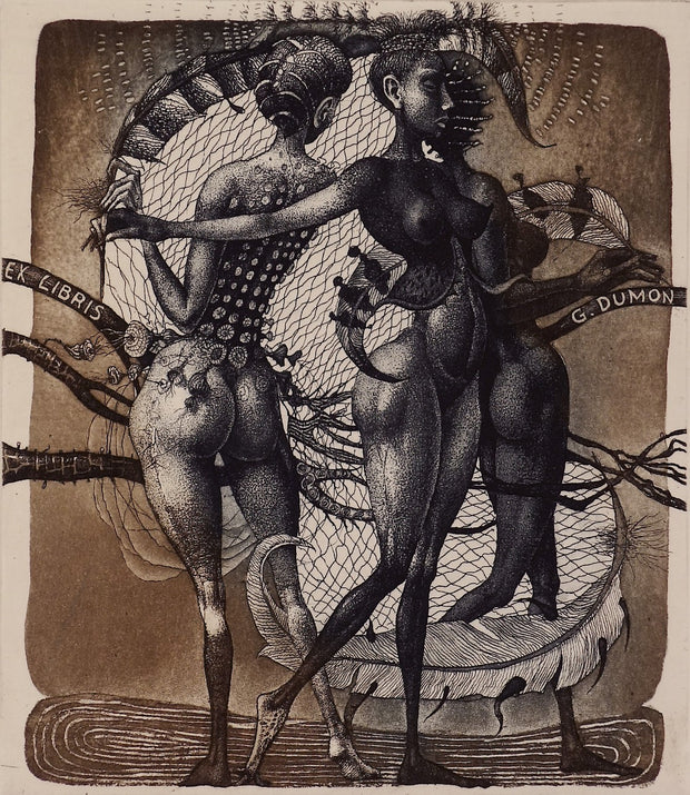 The Three Graces (Ex Libris) by Edward Penkov - Davidson Galleries