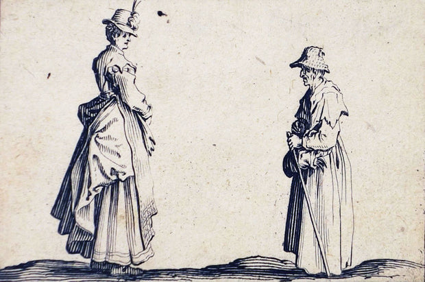 Two Women in Profile by Jacques Callot - Davidson Galleries