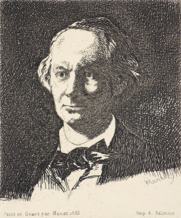 Charles Baudelaire Full Face III by Edouard Manet - Davidson Galleries