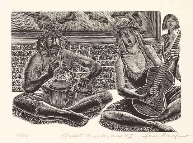 Street Musicians I by Lou Barlow - Davidson Galleries