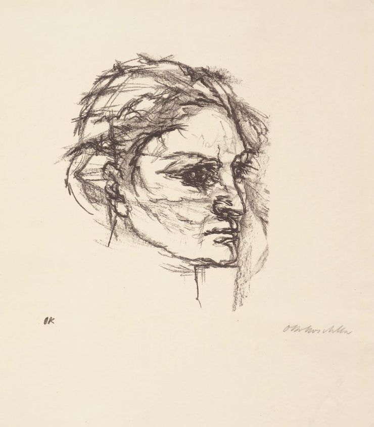 Das Gesicht des Weibes (Woman's Face) by Oskar Kokoschka - Davidson Galleries