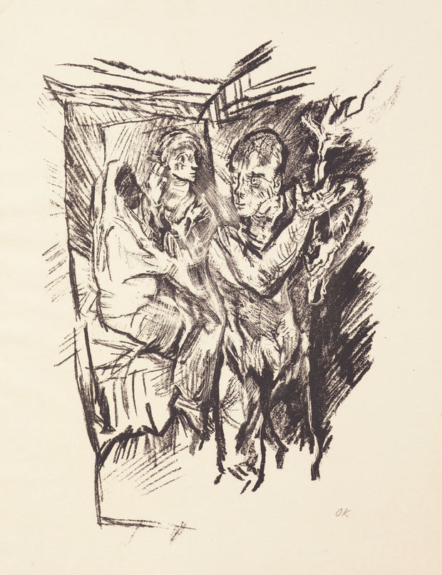 Plate 7: Am Scheidewege (At The Crossroads) by Oskar Kokoschka - Davidson Galleries