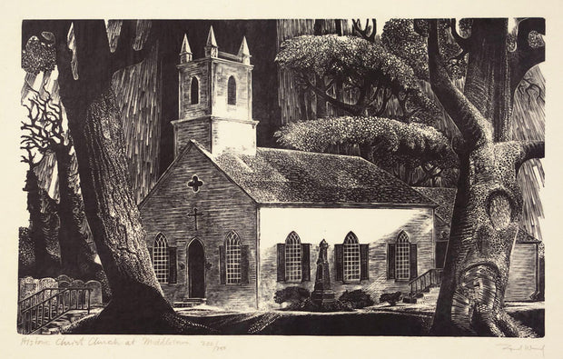 Historic Christ Church at Middletown (Ward Church) by Lynd Ward - Davidson Galleries