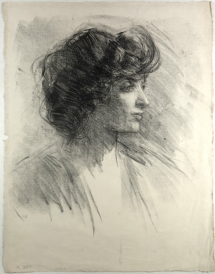 Woman's Head In Profile by Albert de Belleroche - Davidson Galleries