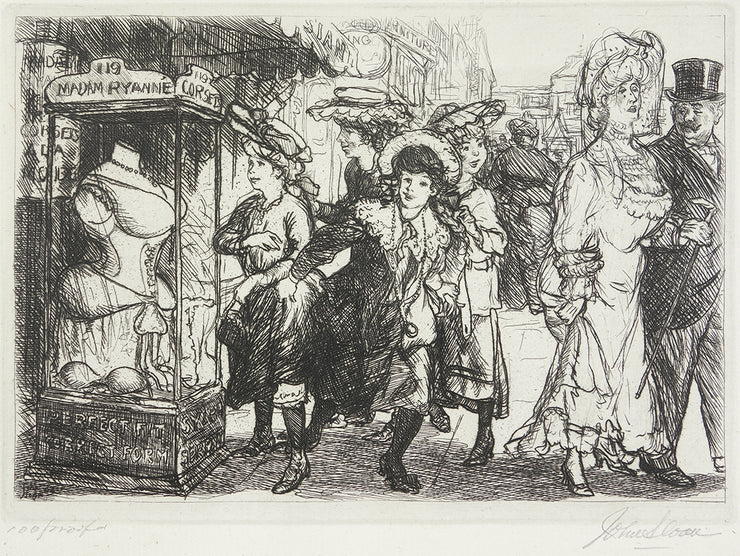 The Show Case by John Sloan - Davidson Galleries