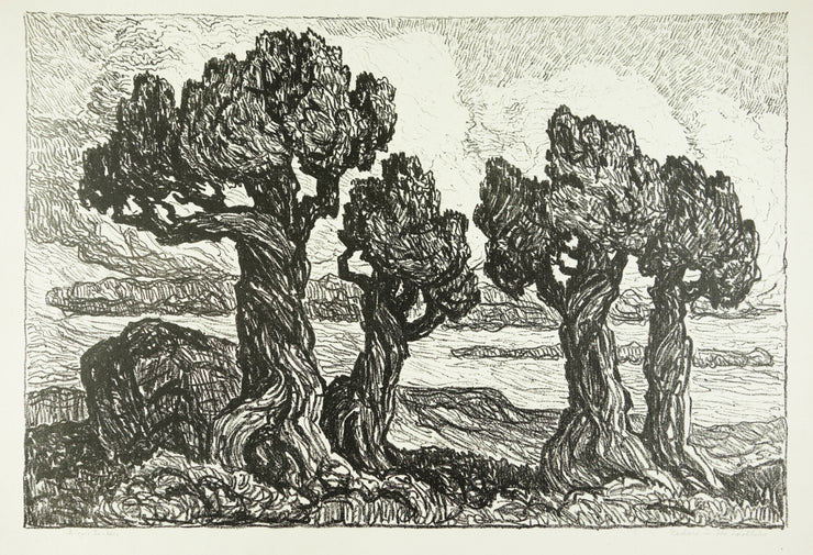 Cedars in the Foothills by Sven Birger Sandzen - Davidson Galleries