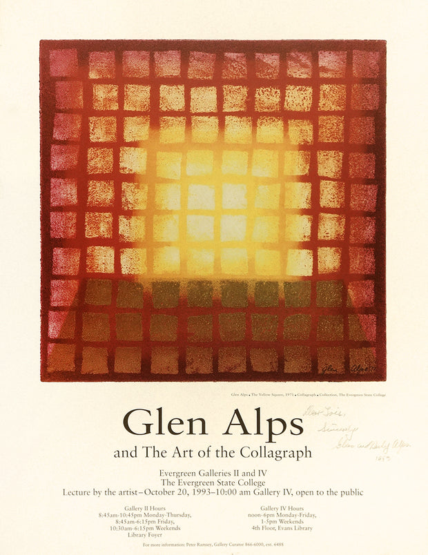 Glen Alps and the Art of the Collagraph Poster for Evergreen State College Exhibition by Glen E. Alps - Davidson Galleries