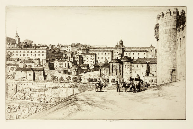 Toledo, from the Castillo de San Servando by Alfred Charles Stanley Anderson - Davidson Galleries