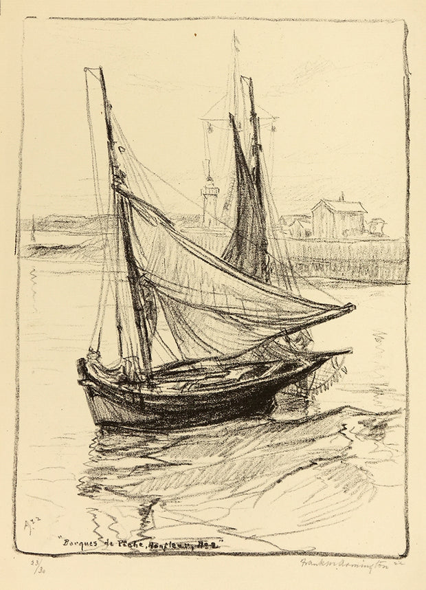Barques De Pêche, Honfleur, No. 2 by Frank Armington - Davidson Galleries