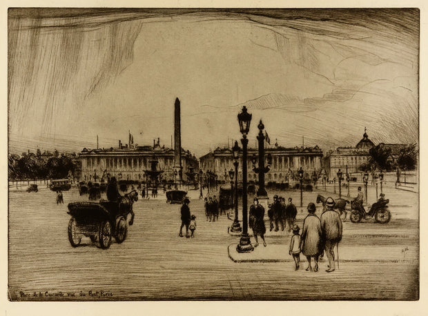 Place De La Concorde Vue Du Pont, Paris by Frank Armington - Davidson Galleries