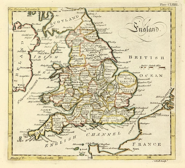 Map of England by Maps, Views, and Charts - Davidson Galleries
