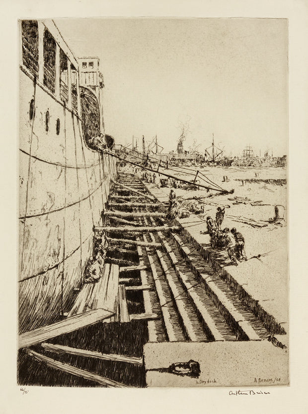 In Dry Dock by Arthur John Trevor Briscoe - Davidson Galleries