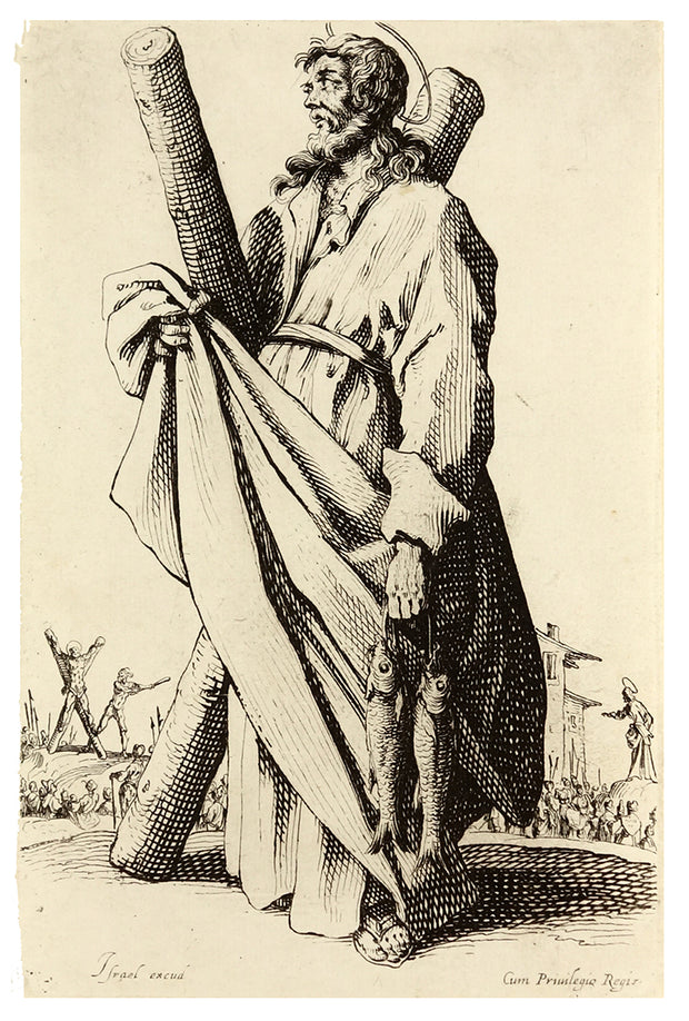 St. Andrew by Jacques Callot - Davidson Galleries
