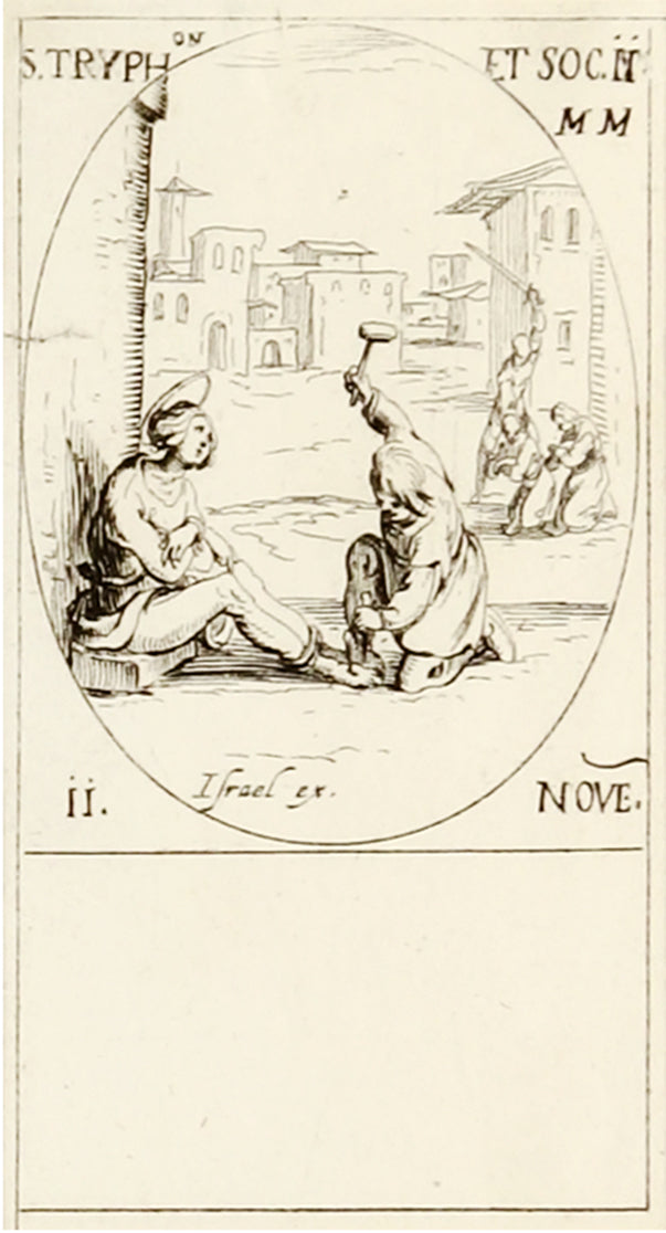 S. Petrus, S. Adrian and S. Tryph by Jacques Callot - Davidson Galleries