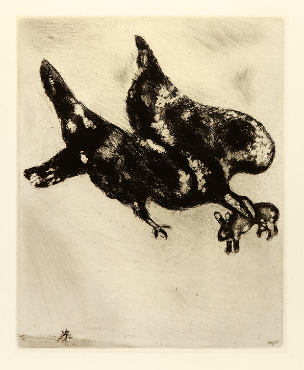 Eagle and Rabbit (L'Aigle et l'Escarbot) by Marc Chagall - Davidson Galleries