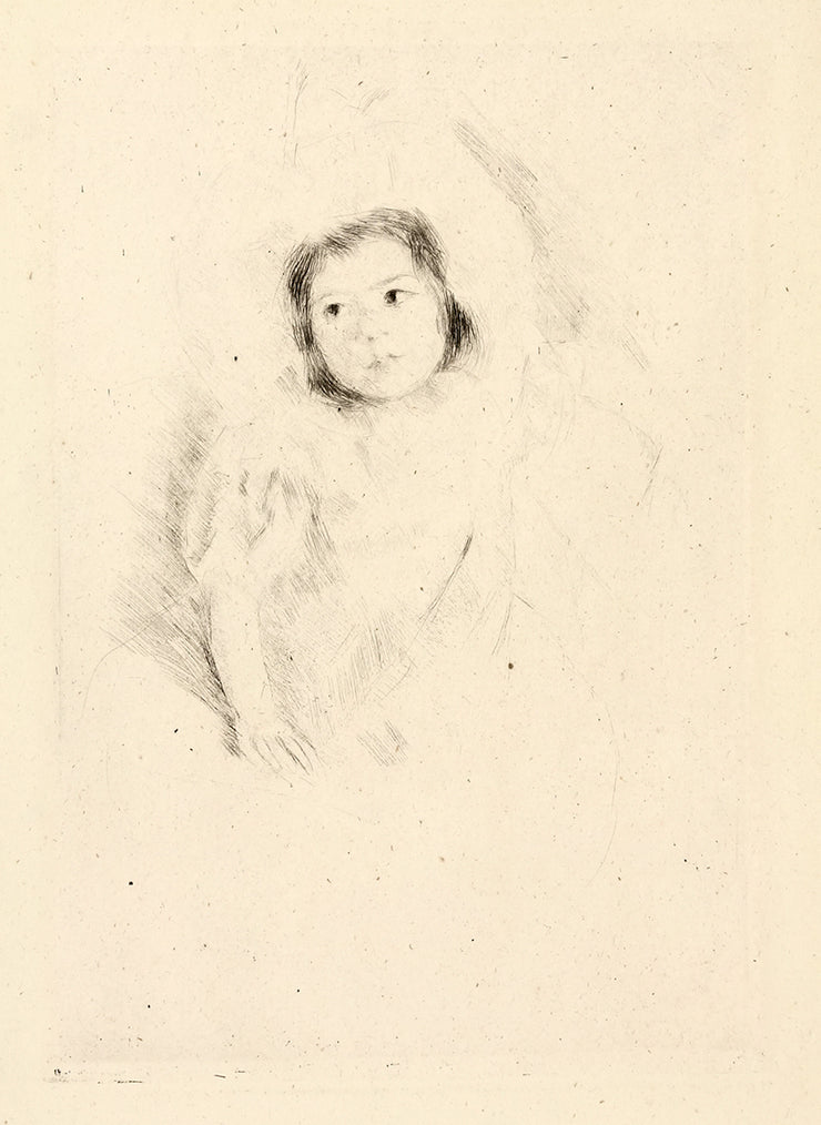 Margot wearing Bonnet No. 1 by Mary Cassatt - Davidson Galleries