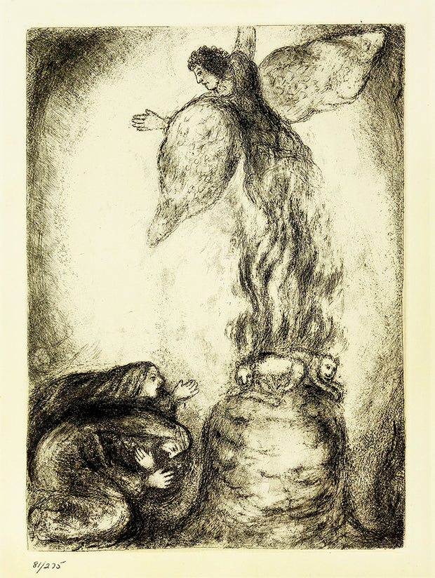 Sacrifice de Manoach by Marc Chagall - Davidson Galleries