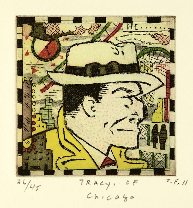 Tracy, of Chicago by Tony Fitzpatrick - Davidson Galleries
